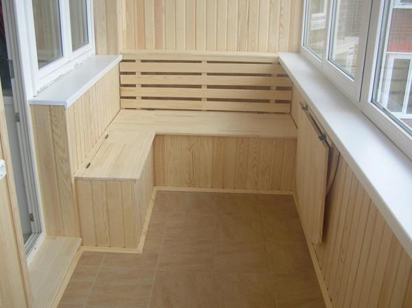 Интерьер кухня на балконе фото