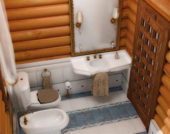 Туалет и ванная в частном доме своими руками 59