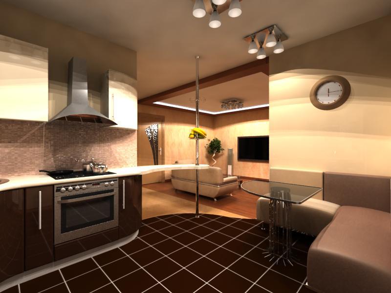 Ремонт кухни студии фото
