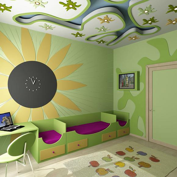 Ремонт и отделка маленькой детской комнаты - фото