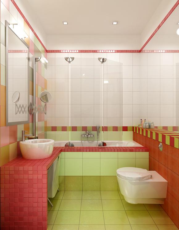 Ремонт и отделка маленькой ванной- фото
