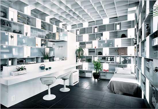 Необычный интерьер кухни - фото