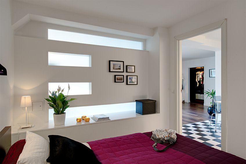 Маленькая спальня без окна - фото