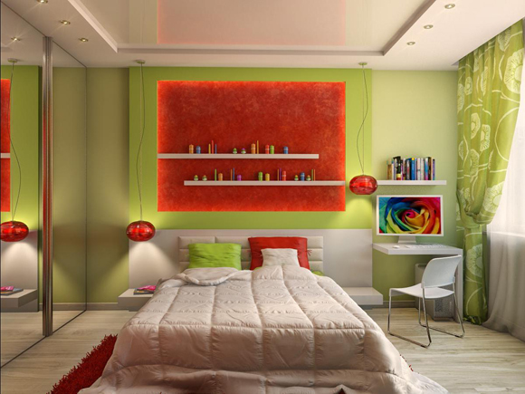 Идеи для маленькой спальни - фото