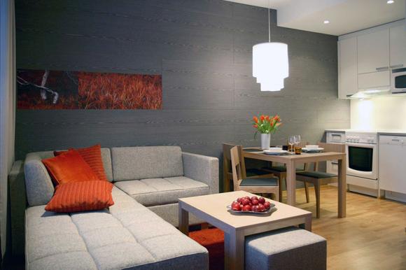 Дизайн спальни и кухни