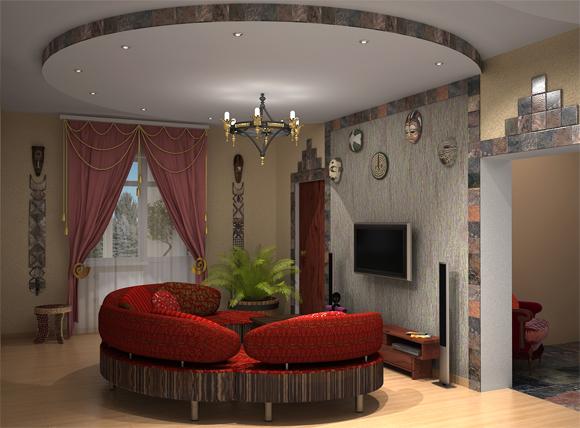 Отделка и ремонт маленькой гостиной комнаты