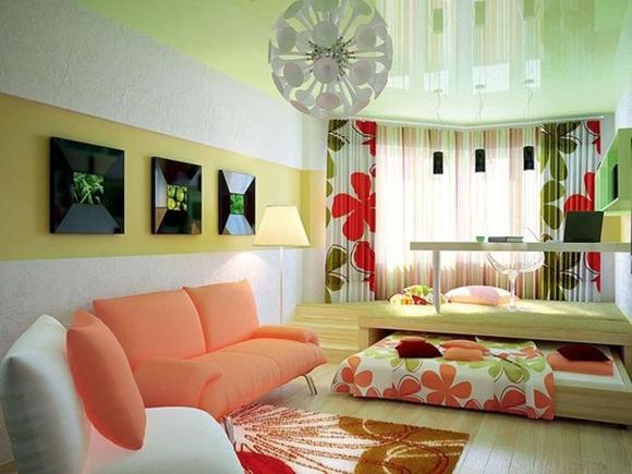 Спальные места в маленькой гостиной