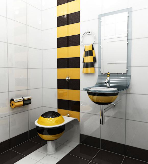 Интерьер маленького туалета с фото