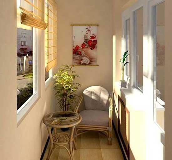 Оформление маленького балкона