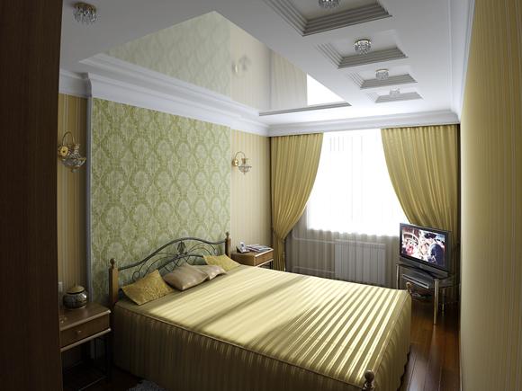 Потолки в маленькой спальне с фото