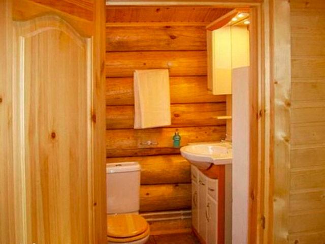 Удобный туалет в баню