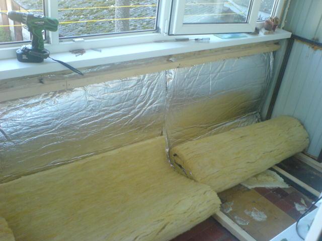 Утепление маленького балкона