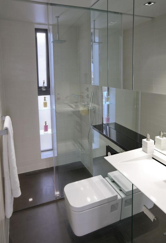 Душевые кабины для маленьких ванных комнат
