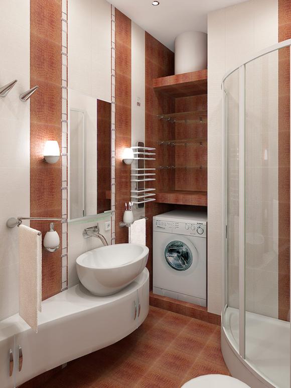 Интерьер маленьких ванных комнат с фото